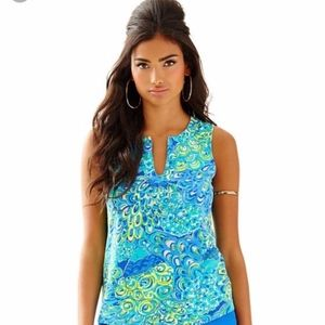 Lilly Pulitzer Blue Lagoon Marlow Top